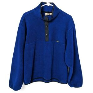 Vintage 90s LL Bean 1/4 Snap Up Button Pullover